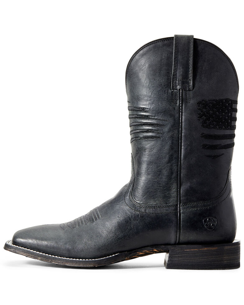 Ariat Men's Circuit Patriot Western Boots - Wide Square Toe, Black, hi-res