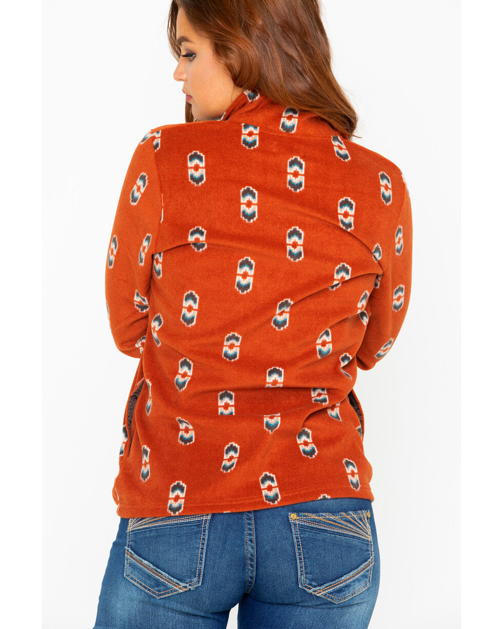 As Real As Wrangler Women's Burnt Henna Long Sleeve Top, Rust Copper, hi-res