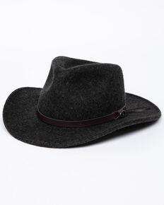 Dorfman Crush Yukon Felt Hat, Charcoal, hi-res