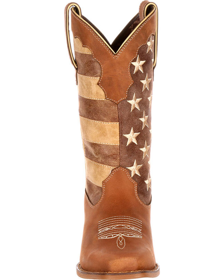 Durango Women's Distressed Flag Western Boots, Brown, hi-res
