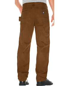 Dickies Men's Relaxed Fit Double Front Duck Carpenter Pants, Bark, hi-res