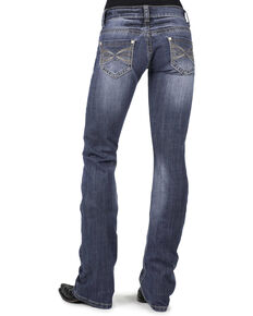 Stetson Women's 818 Contemporary X-Stitch Bootcut Jeans, Denim, hi-res