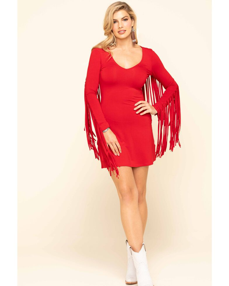 Idyllwind Women's Red I Feel Like Dancing Dress, Red, hi-res