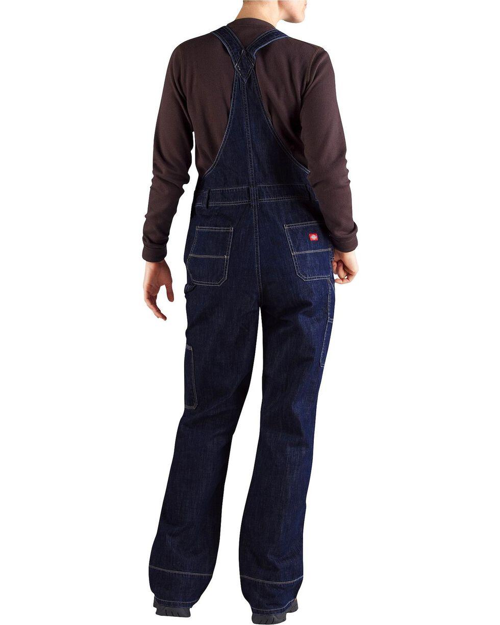 Dickies Women's Denim Bib Overalls - Big & Tall, Dark Stone, hi-res