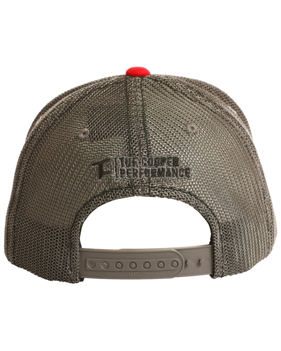 Tuf Cooper Men's Performance Patch Mesh Ball Cap, Grey, hi-res
