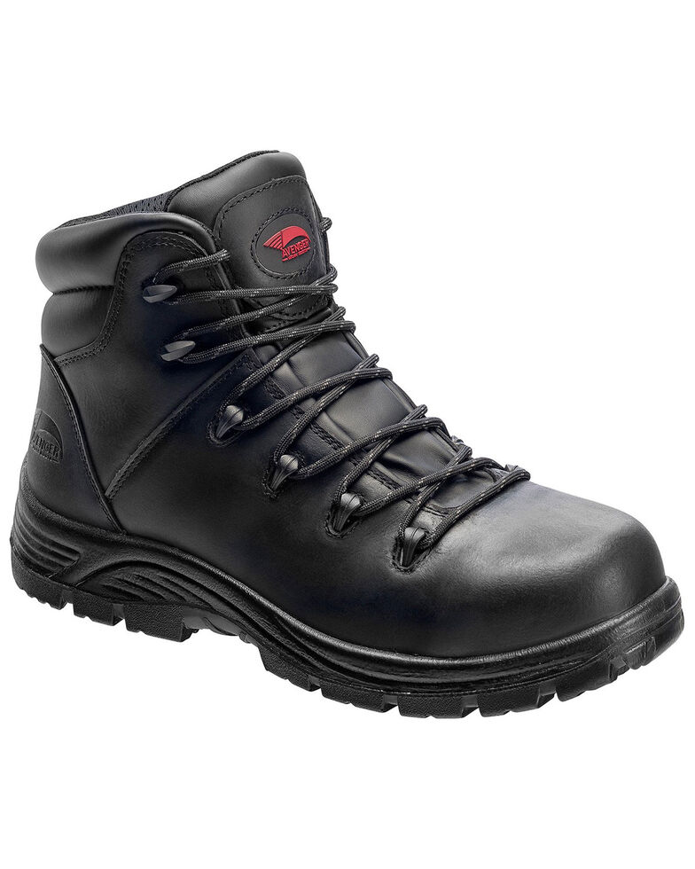Avenger Men's Waterproof Hiker Boots - Composite Toe, Black, hi-res