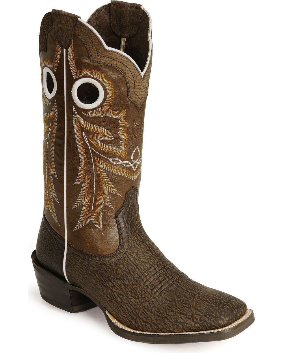 Ariat Men's Wild Stock Western Boots, Mocha, hi-res