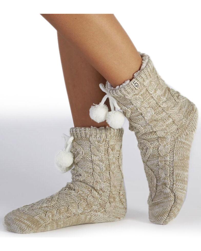 UGG Women's Cream Pom-Pom Crew Socks , Cream, hi-res