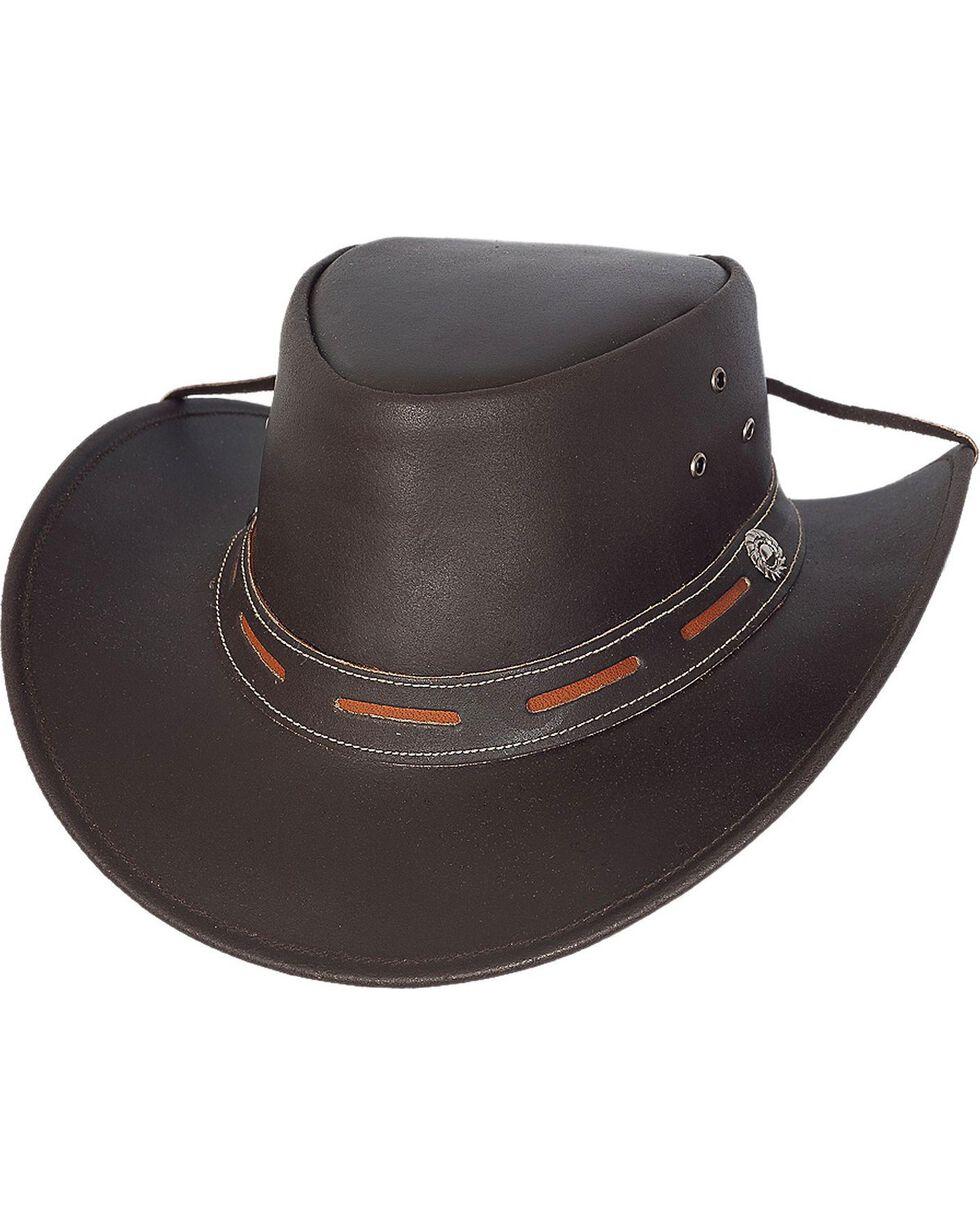 Bullhide Men's Maitland Leather Hat, Brown, hi-res