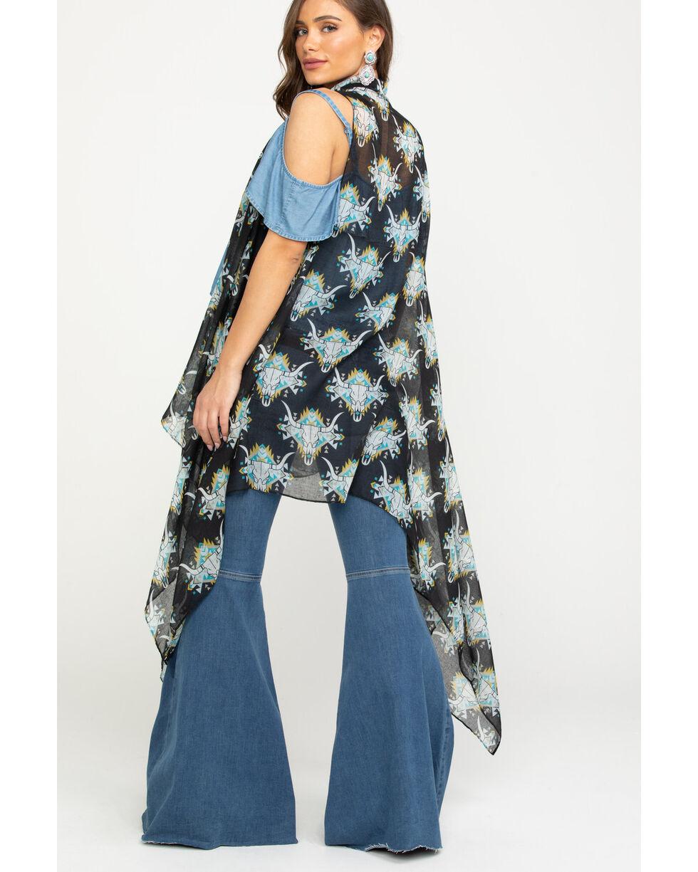 Ariat Women's Roadie Scarf Vest, Black, hi-res