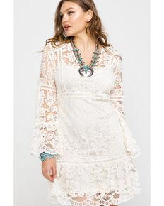 2752e10cd2f207 Honey Creek By Scully Women's Lace Crochet Long Sleeve Dress