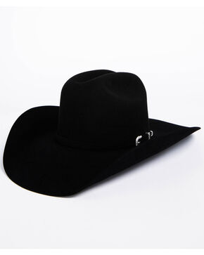 American Hat Co. Men's Black Self Buckle Hat, Black, hi-res