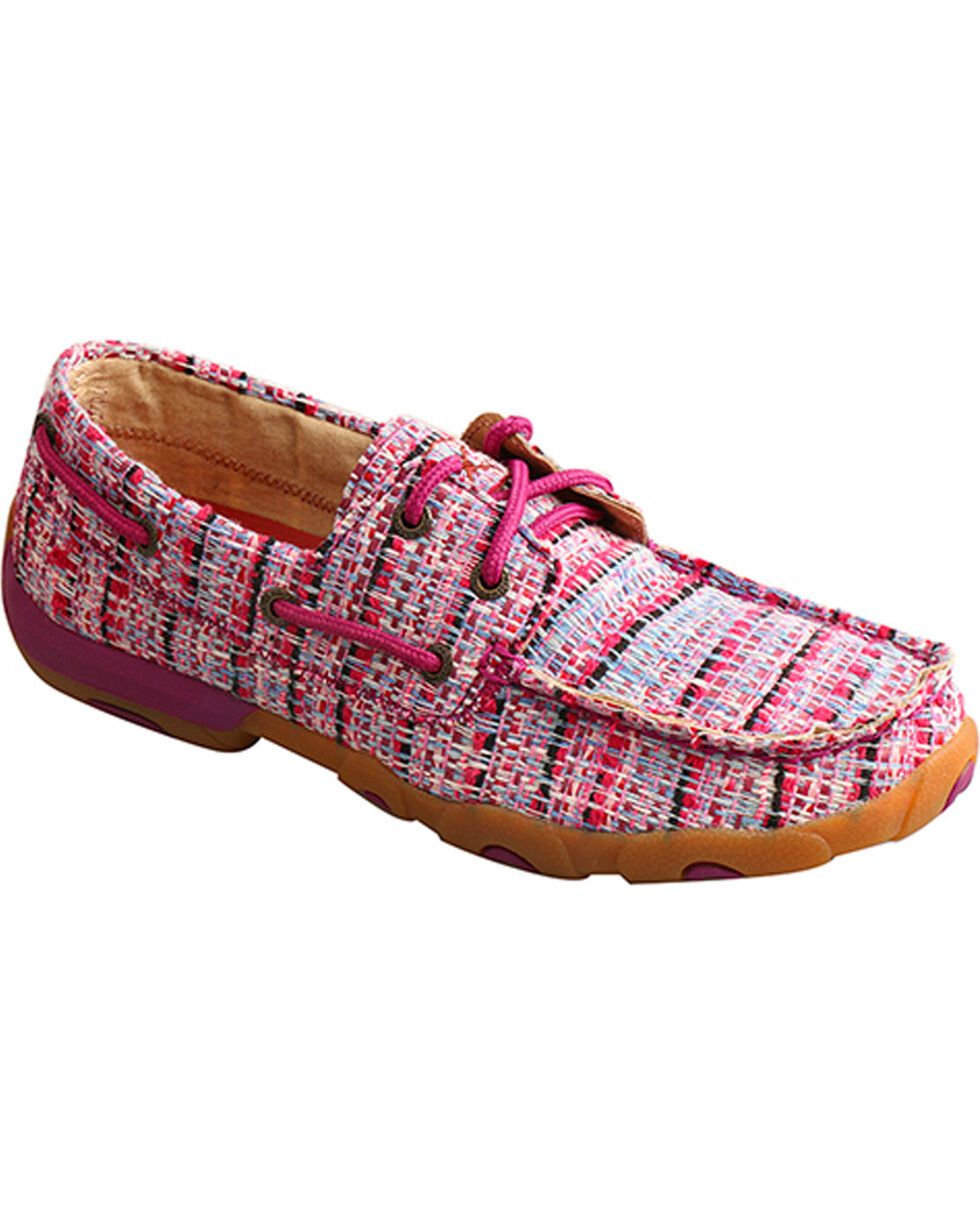 Twisted X Women's Woven Textile Lace Up Driving Mocs - Moc Toe, Multi, hi-res
