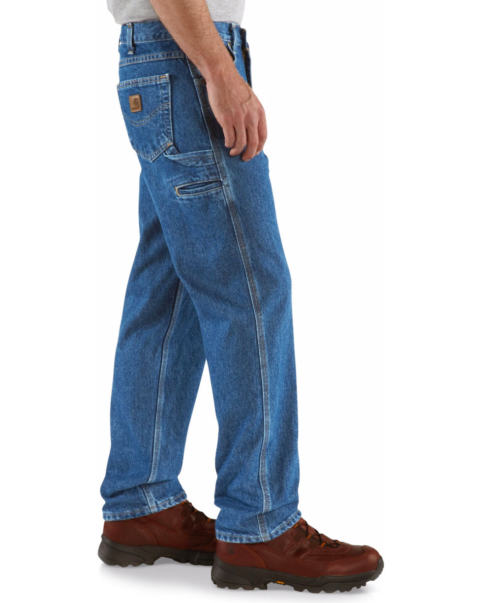 Carhartt Men's Relaxed-Fit Carpenter Jean, Blue, hi-res