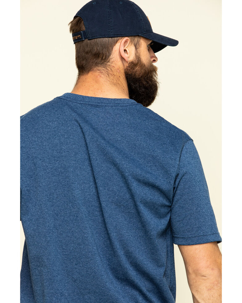 Carhartt Men's Short-Sleeve Logo T-Shirt, Indigo, hi-res