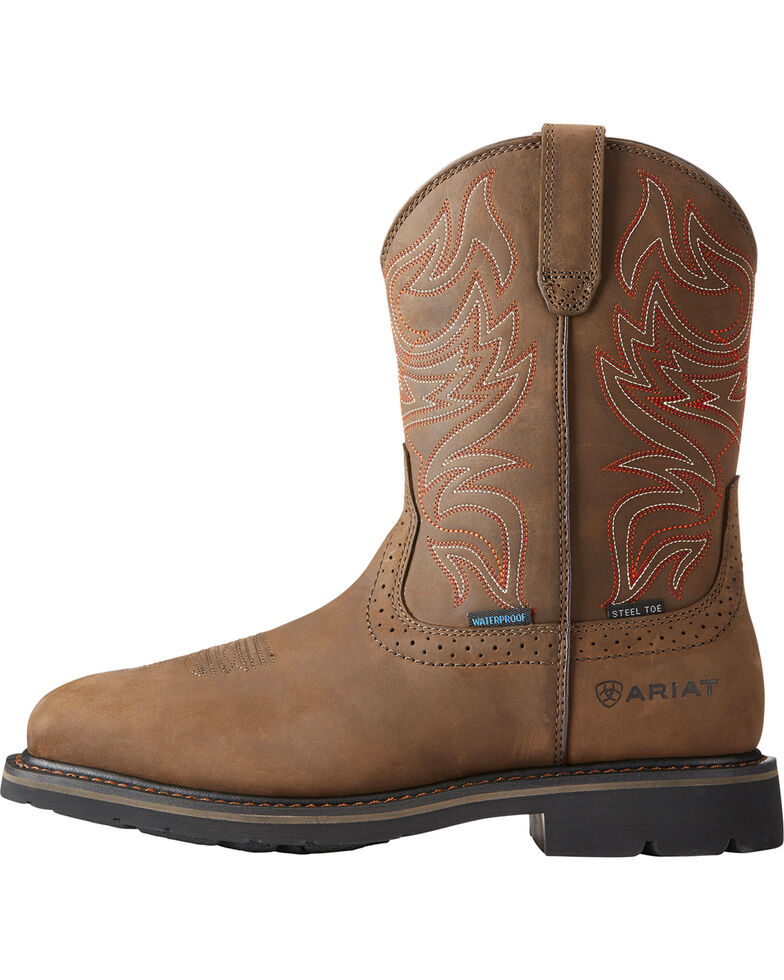 ad633cb2e46 Ariat Men's Brown Sierra Delta H20 Work Boots - Steel Toe