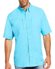 Ariat Men's Blue Venttek Short Sleeve Shirt , Blue, hi-res
