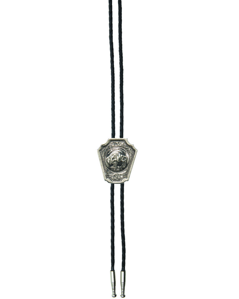 And West Men's Buffalo Nickle Bolo Tie, Gold, hi-res