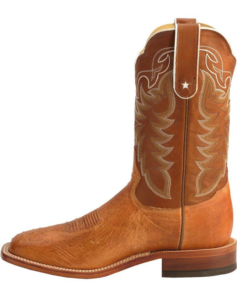 Tony Lama Men's San Saba Vintage Smooth Quill Ostrich Cowboy Boots - Square Toe, Cognac, hi-res