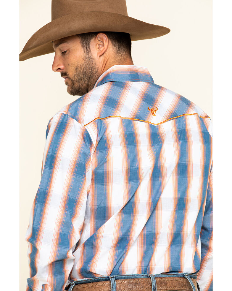 Cowboy Hardware Men's Hombre Plaid Long Sleeve Western Shirt , Slate, hi-res