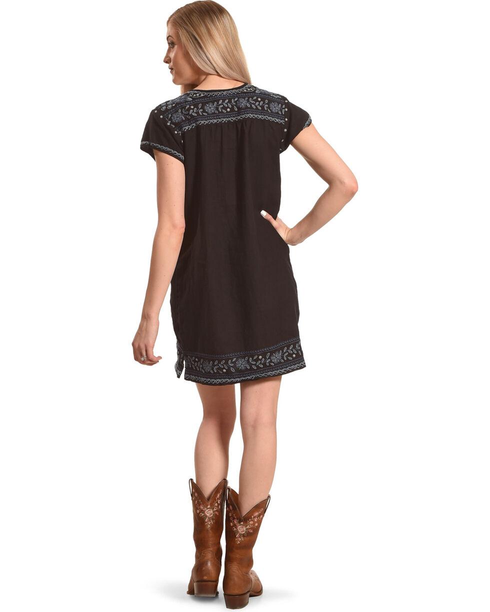 Johnny Was Women's Black Lei Lei Peasant Tunic Dress , Black, hi-res