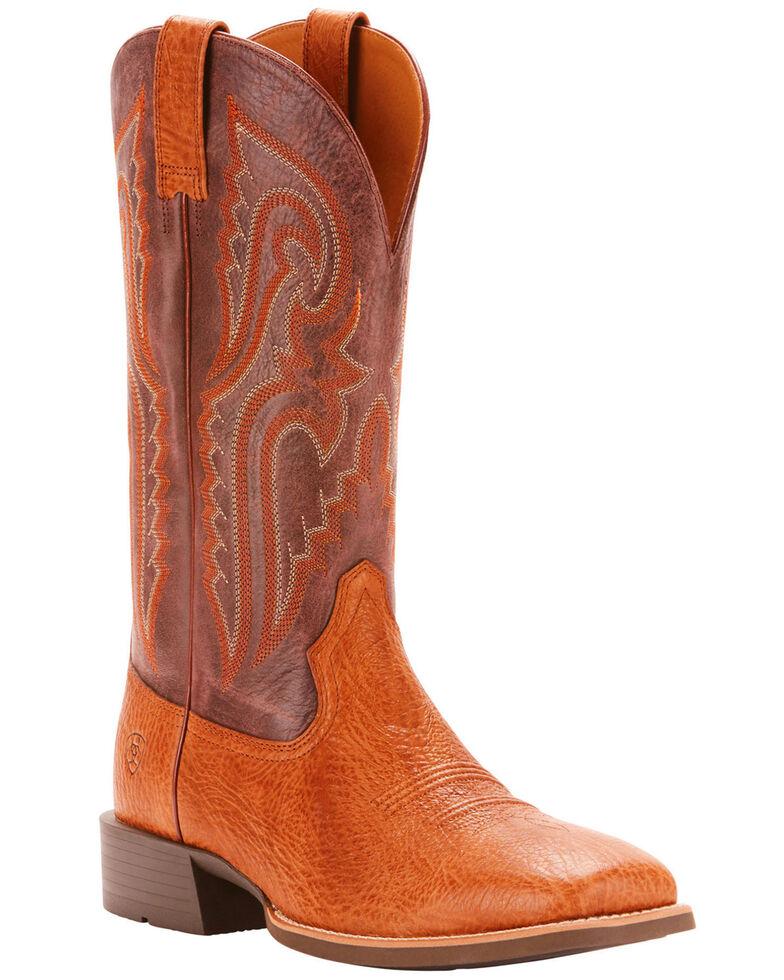 Ariat Men's Tan Heritage Latigo Western Boots - Broad Square Toe , Tan, hi-res