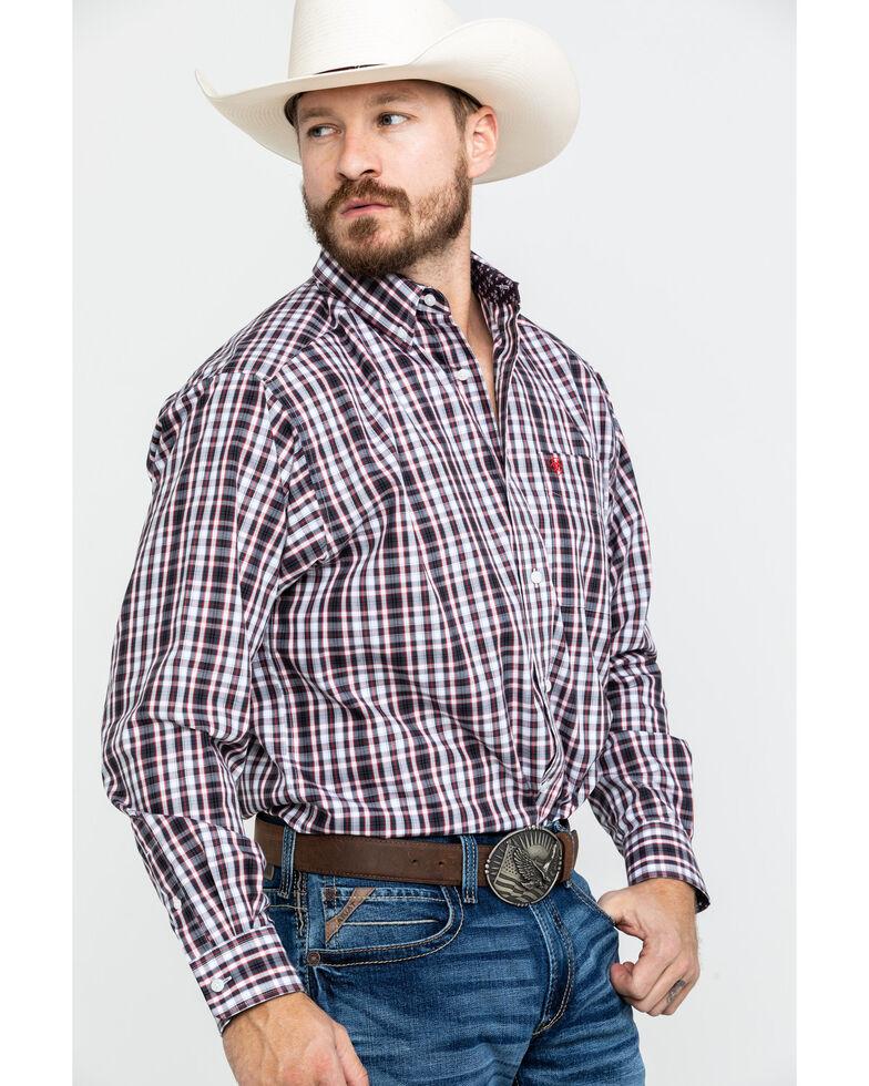 Ariat Men's Wrinkle Free Clarkston Plaid Long Sleeve Western Shirt , Multi, hi-res