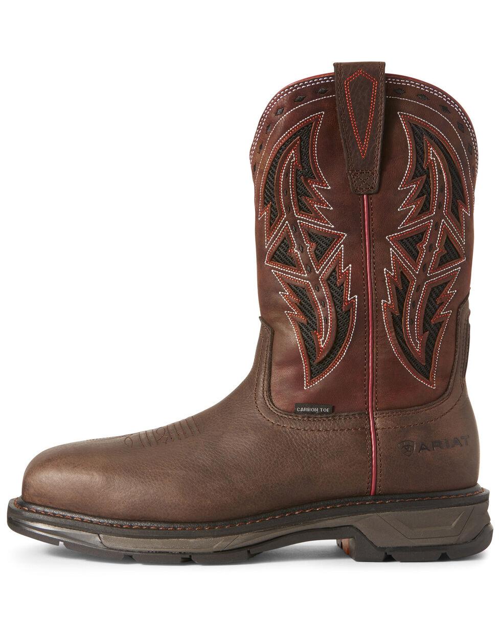 Ariat Men's Workhog XT VentTEK Western Work Boots - Carbon Toe, Chocolate, hi-res