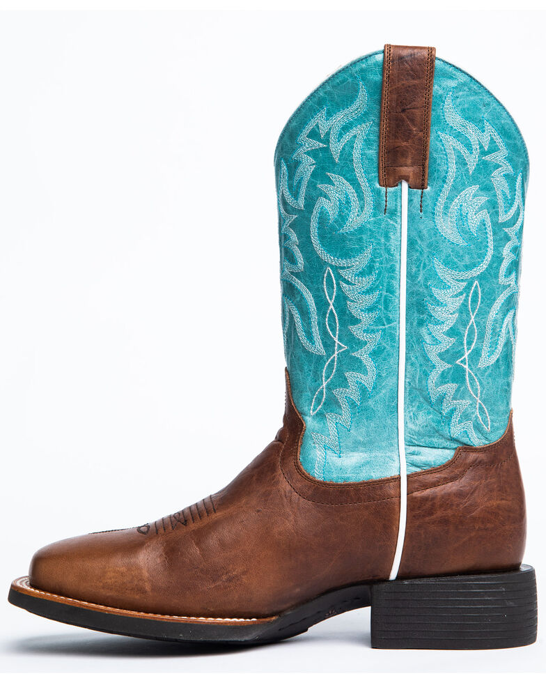 Shyanne Women's Spark Western Boots - Wide Square Toe, Brown, hi-res