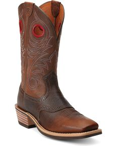 Ariat Men's Heritage Roughstock Western Boots, Brown, hi-res