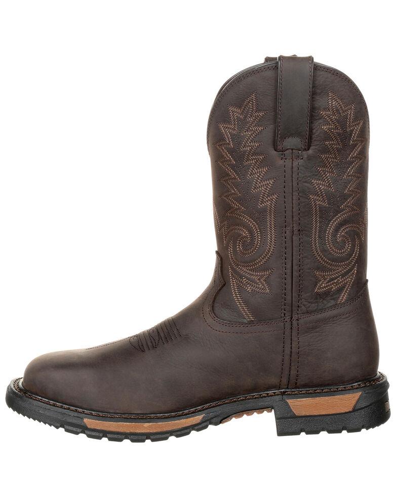 45b42e9dcf2 Rocky Men's Original Ride FLX Waterproof Western Work Boots - Steel Toe