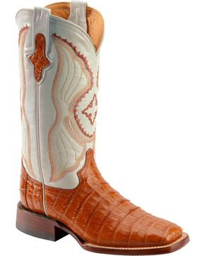 Ferrini Women's Caiman Crocodile Belly Western Boots, Cognac, hi-res