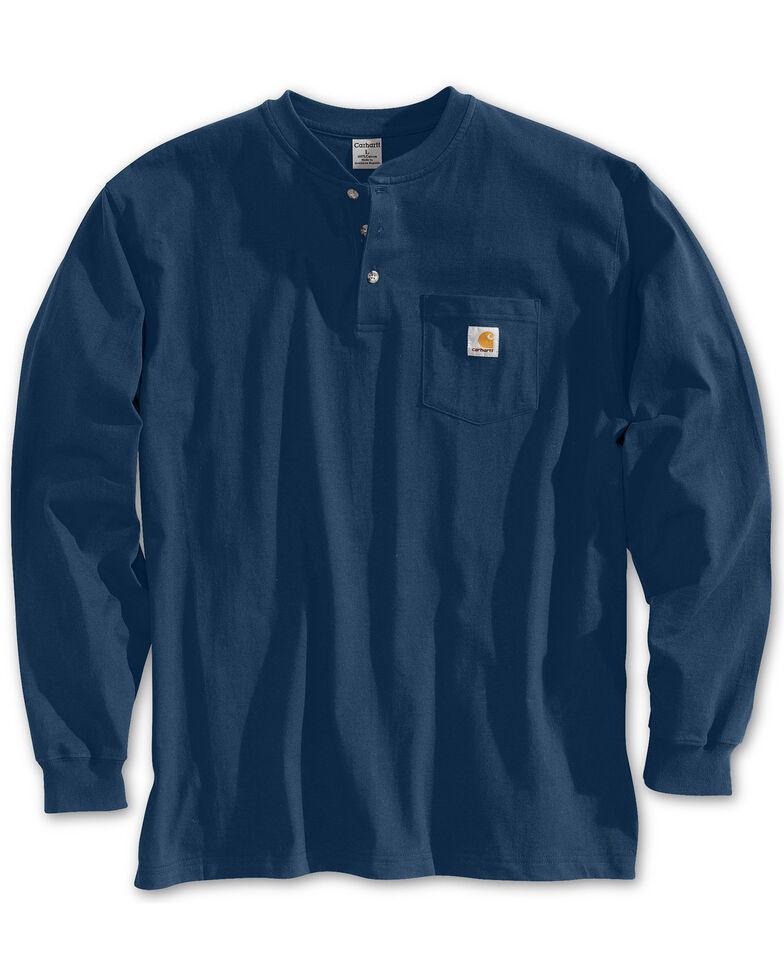 Carhartt Men's Workwear Henley Long Sleeve Shirt, Navy, hi-res