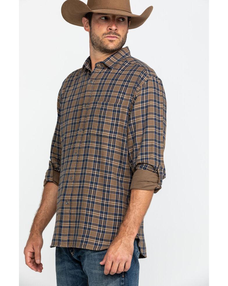 Pendleton Men's Tan Fairbanks Plaid Button Long Sleeve Western Shirt , Tan, hi-res