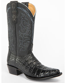 Shyanne Women's Bella Black Caiman Belly Western Boots - Snip Toe, Black, hi-res