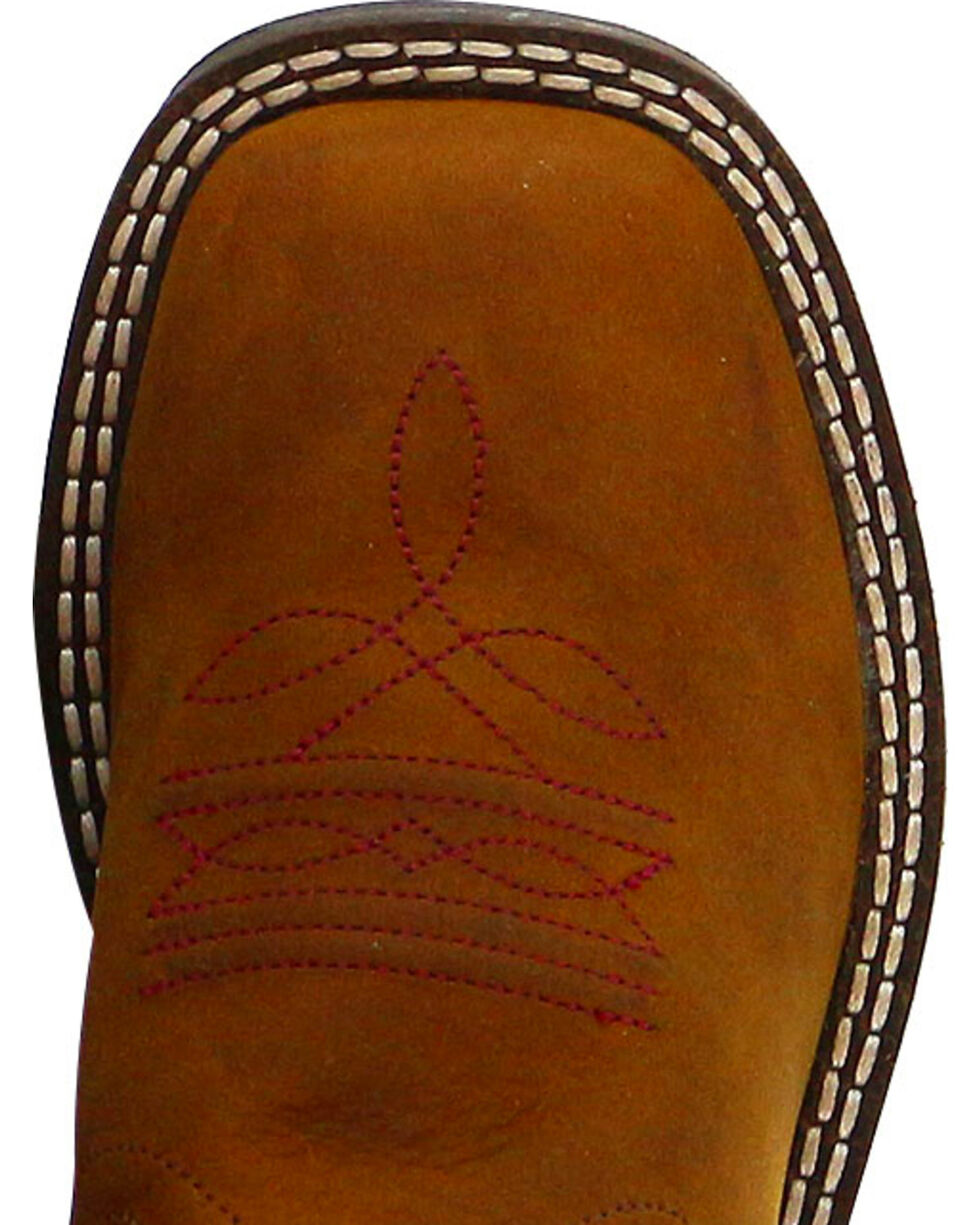 Cody James® Children's Broad Square Toe Western Boots, Cognac, hi-res