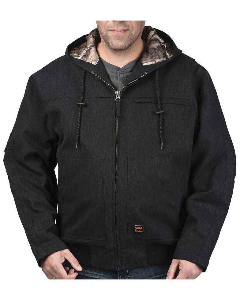 Walls Men's Jacksboro Muscle Back Hooded Jacket , Black, hi-res
