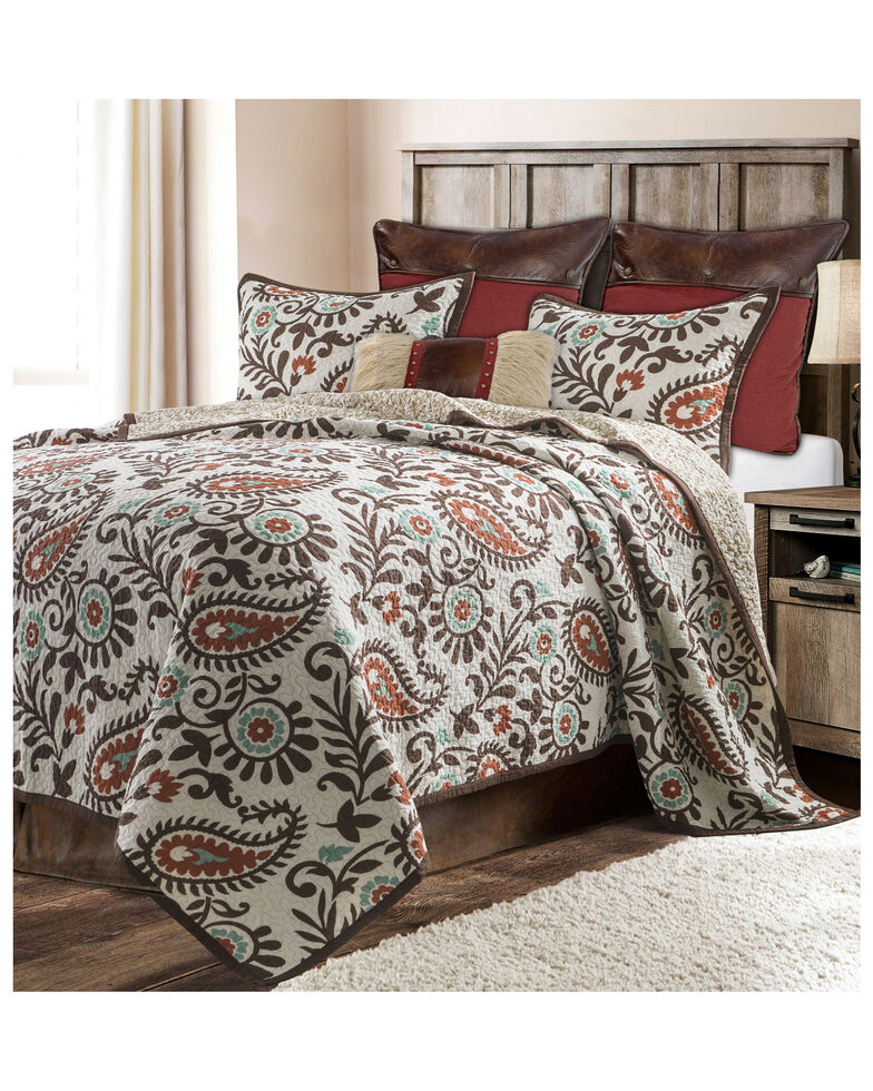 HiEnd Accents Rebecca Twin Quilt Set, Red, hi-res