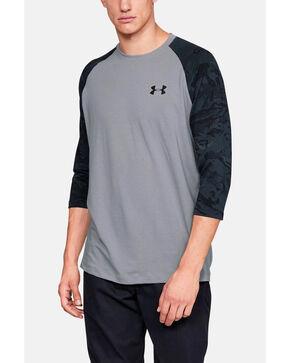 Under Armour Men's Grey Ridge Reaper 3/4 Sleeve Hunting Baseball Shirt , Grey, hi-res