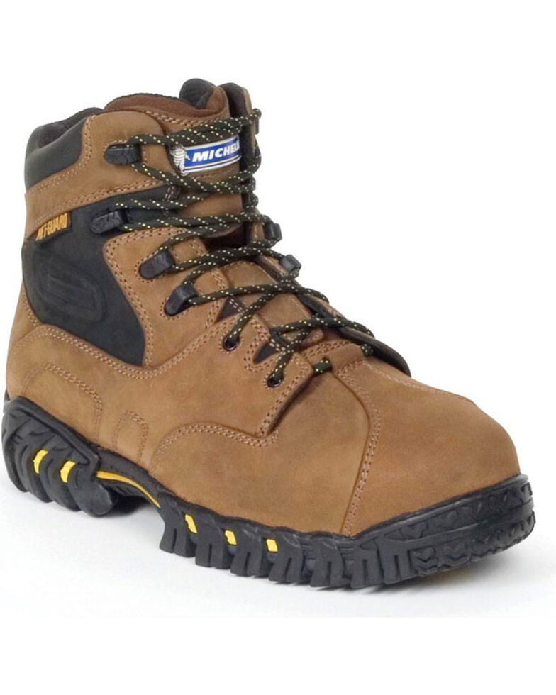 Michelin Men's Pilot Exalto Protective Toe Work Boots, Brown, hi-res