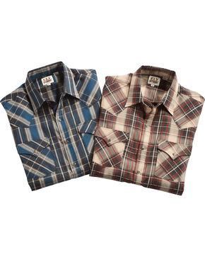 Ely Cattleman Men's Assorted Textured Plaid Shirt , Multi, hi-res