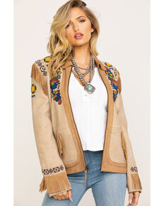 Double D Ranchwear Women's Panhandle Patsy Jacket, Tan, hi-res