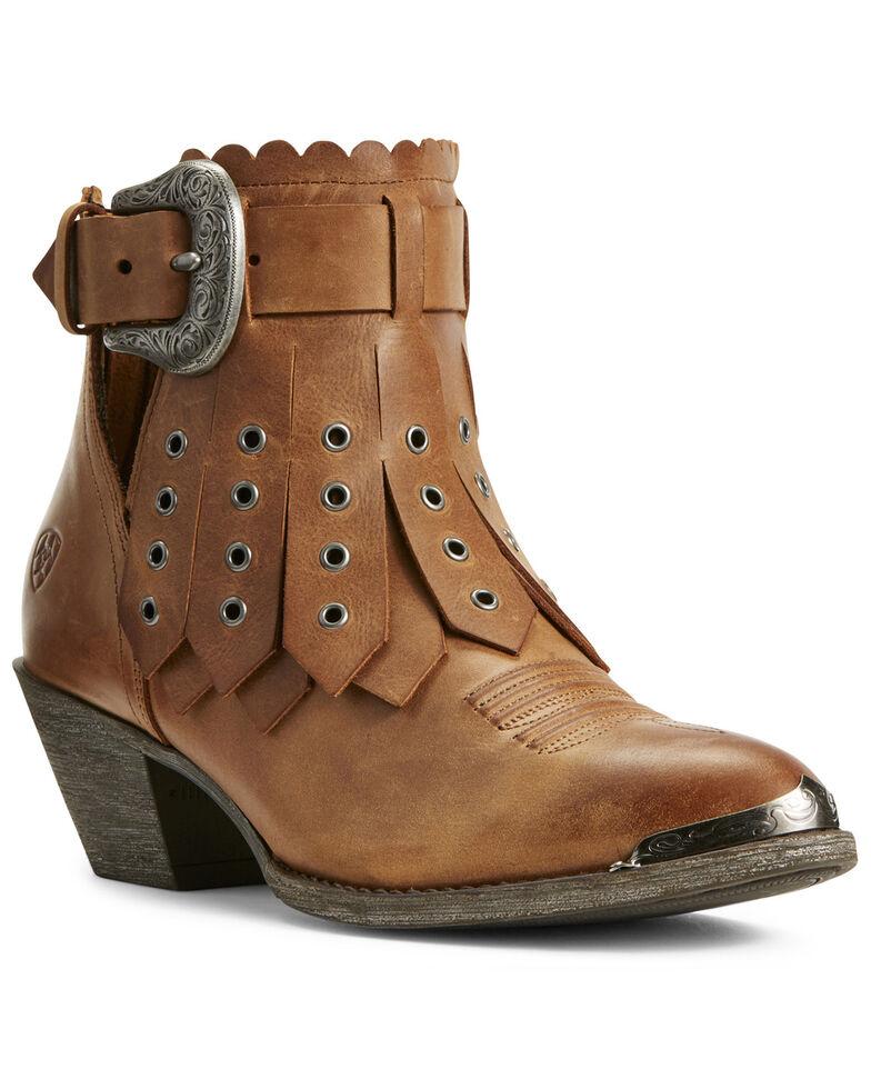 Ariat Women's Hadley Parma Western Booties - Round Toe, Tan, hi-res