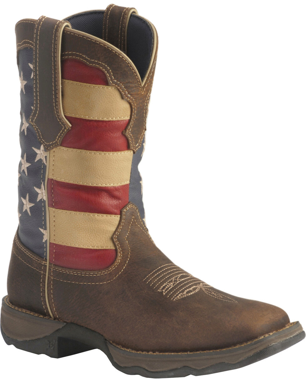Durango Women's Patriotic Lady Rebel Western Boots, Brown, hi-res