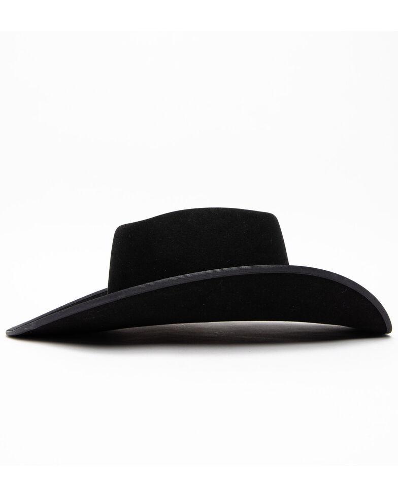 Serratelli Men's 6X Twister Black Brick Crown Cowboy Hat , Black, hi-res