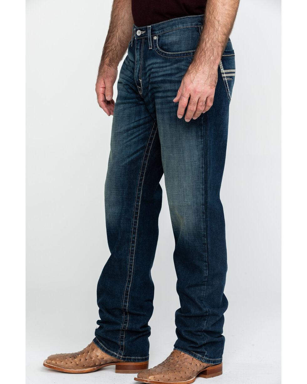 Cinch Men's Sawyer Dark Stone Loose Mid Boot Jeans , Indigo, hi-res