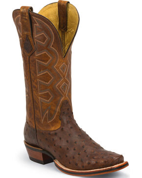 Nocona Men's Let's Rodeo Ostrich Western Boots, Sienna, hi-res