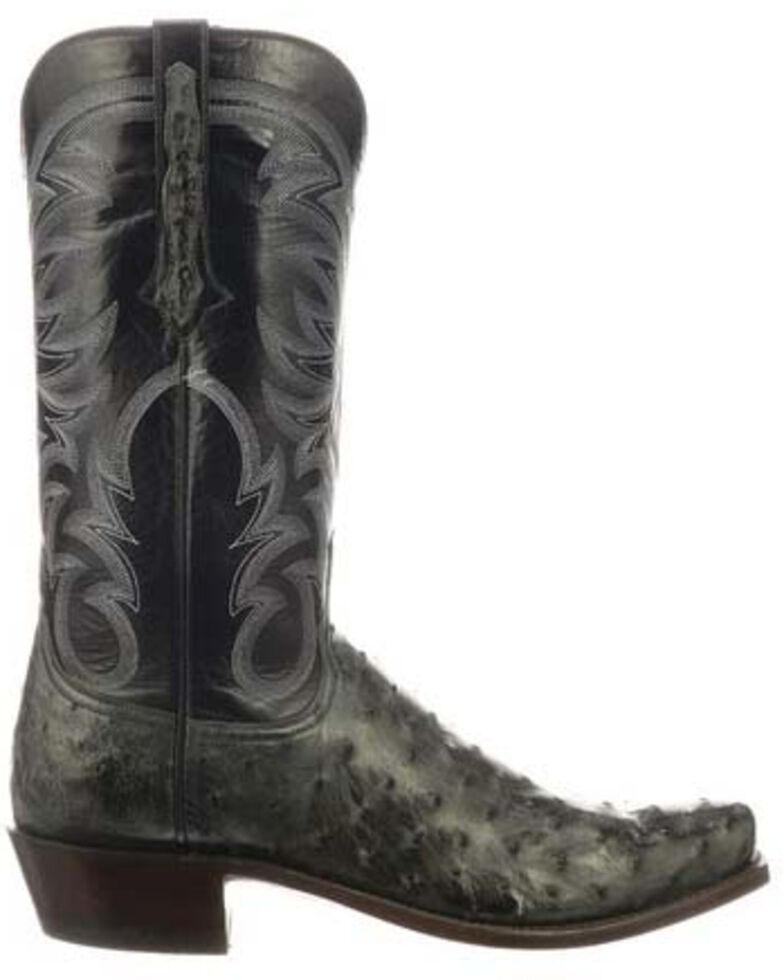 eb32d2ecb9c Lucchese Men's Hugo Full Quill Ostrich Western Boots - Square Toe