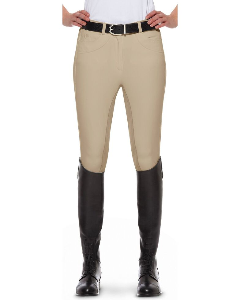 Ariat Olympia Regular Rise Riding Breeches, Beige, hi-res