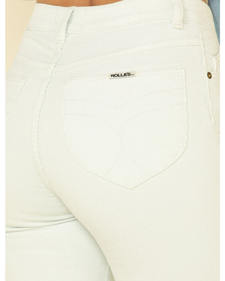 Rolla's Women's Sky Corduroy Flares  , Light Blue, hi-res